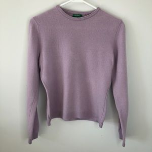 United Colors of Benetton Purple Wool Sweater